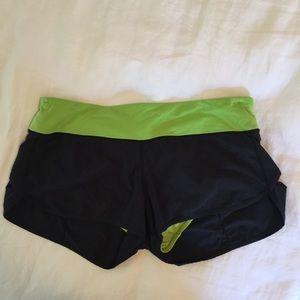 Lululemon Black Speed Shorts 8/M
